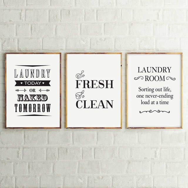 Laundry Room Wall Art Decor Life Canvas Print And Poster Sign Painting Home Modern Decoration