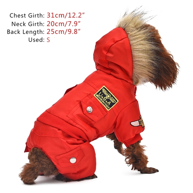 Hot Winter Warm Thick For Large Small Dog Pet Clothes Padded Hoodie Jumpsuit Pants Apparel XS-5XL Hot New Arrival  Free Shipping 3