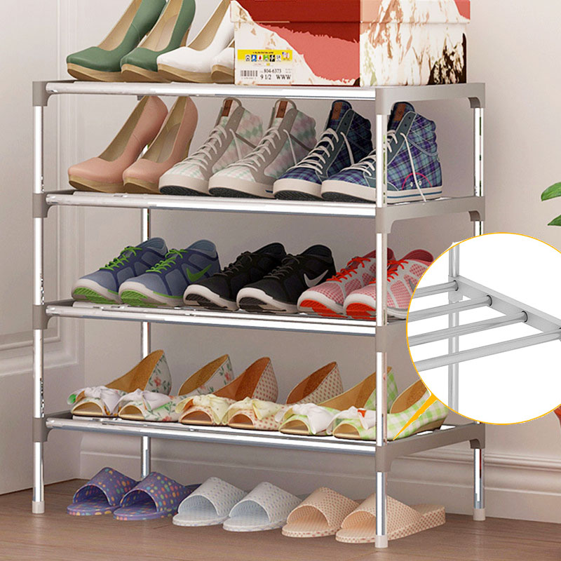 5 Layers Shoe Rack Galvanized steel pipe shoe cabinet shoe organizer removable shoe storage for home furniture Keep Room Neat 12 grid diy assemble folding cloth non woven shoe cabinet furniture storage home shelf for living room doorway shoe rack
