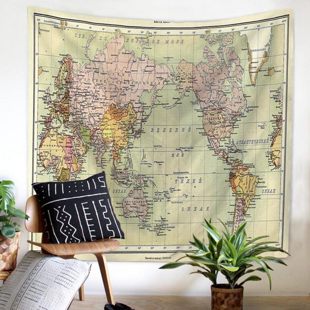 World map tapestry bedroom path decorations pictures full path world map tapestry amazon com floral watercolor world map tapestry colorful printed wall hanging for living room bedroom dorm home decor world map tapestry gumiabroncs Images