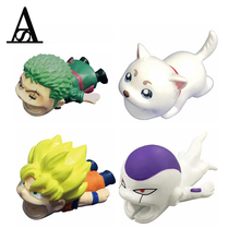 1pcs Cute Funny Japanese Anime Dragon Ball Z Cable Bites Iphone Winder Protector Accessory Biters Cat Animal One Piece Model Toy