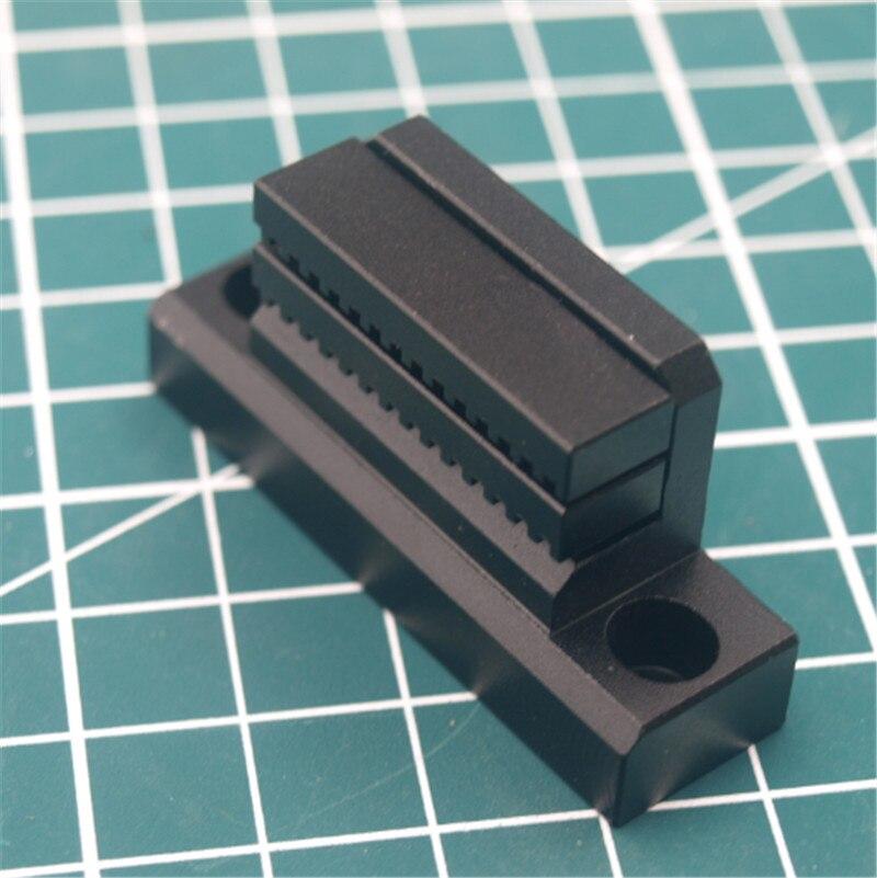 1pcs Prusa i3 MK3 black anodized aluminum alloy Y Belt Holder for Reprap Prusa i3 MK3 3D printer