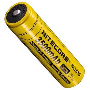 Image 4 - Nitecore bateria li on recarregável, 18650 3500mah nl1835 3.6v 9.6wh, botão de íon de lítio protegido, bateria superior