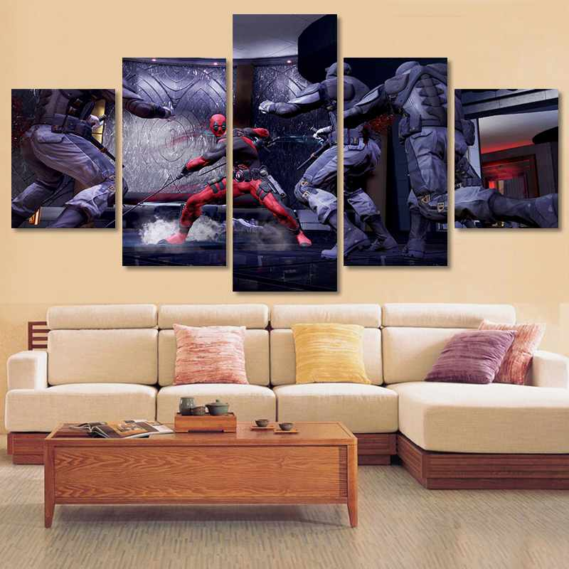 5 panel HD printed modular painting Teenage Mutant Ninjcanvas print art modern home decor wall art picture for living room F0487