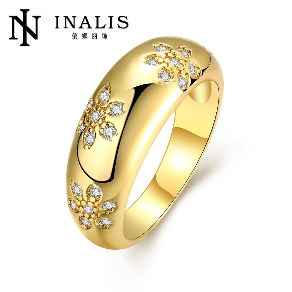 2016 new fashion gold plated ring austrian bright