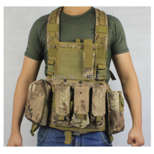Tactical M4 RRV Chest Rig Paintball Vest Airsoft vest military molle vest Kryptek Highlander chest rig
