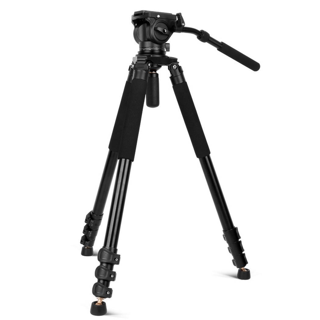 Portatile Pieghevole Telescopica Guida di Scorrimento Fotografia Professionale 730 millimetri Treppiedi di Macchina Fotografica Fotografia, Punto Fisso - 5