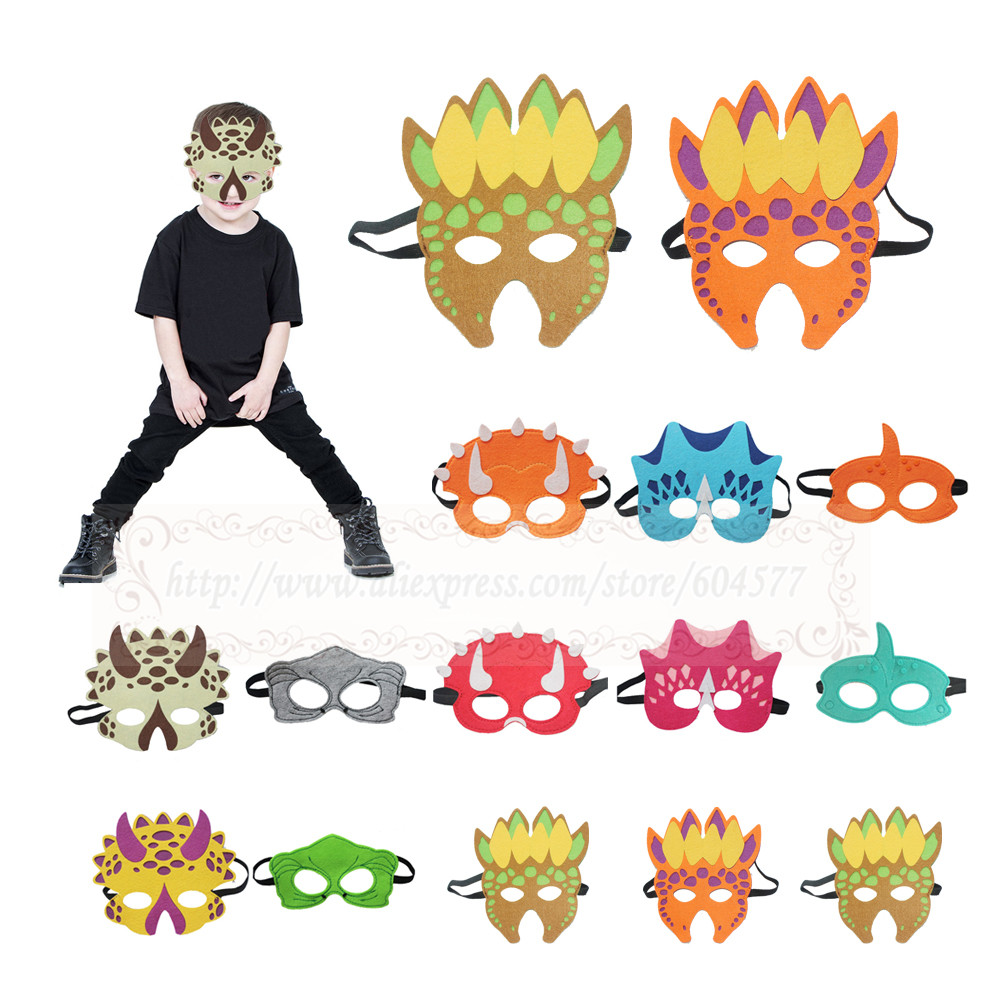 Dinosaur Costumes Masks  Boys and Girls Dino triceratops tyrannosaurus birthday party decorations stegosaurus halloween costume