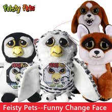 Feisty Pets Roaring Angry Toy Dog Cat Children Gift Feisty Pet lion Panda Change Face Stuffed Animal Doll Plush Toys For Kids