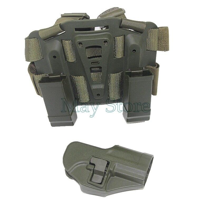 ⊹Airsoft pistolera táctica muslo CQC polímero gota pierna derecha ...