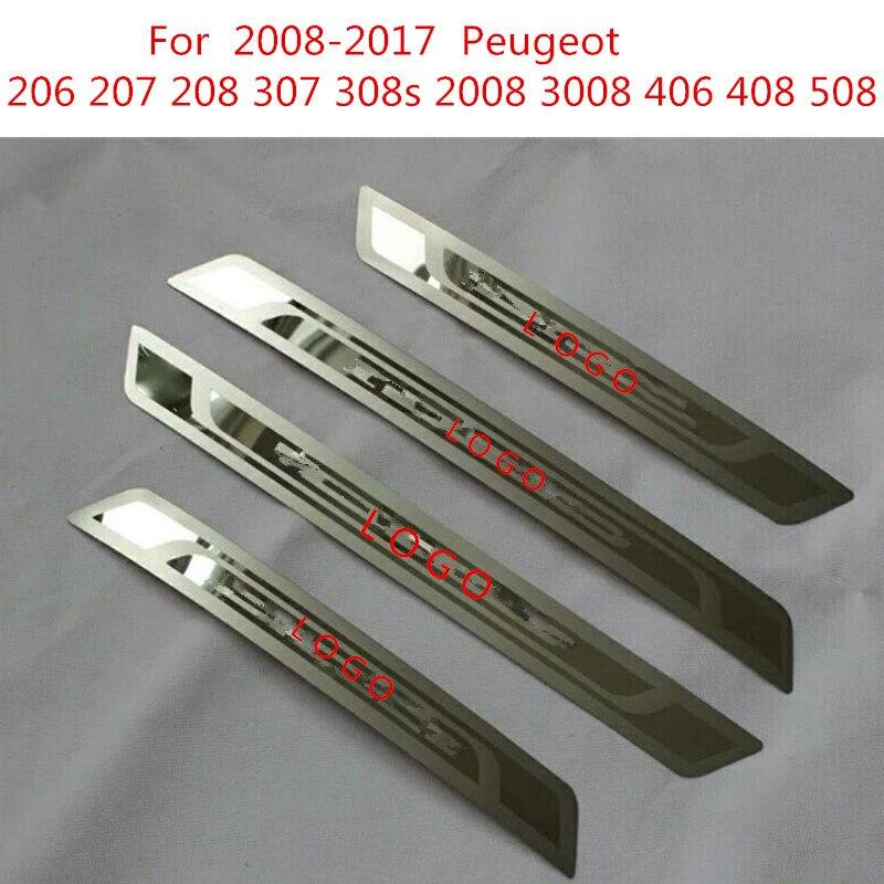 Minnelijk Voor 2008-2017 Peugeot 206 207 208 307 308 S 2008 3008 406 408 508 Rvs Instaplijsten Plaat Auto Accessoires Auto-styling Meer Kortingen Verrassingen