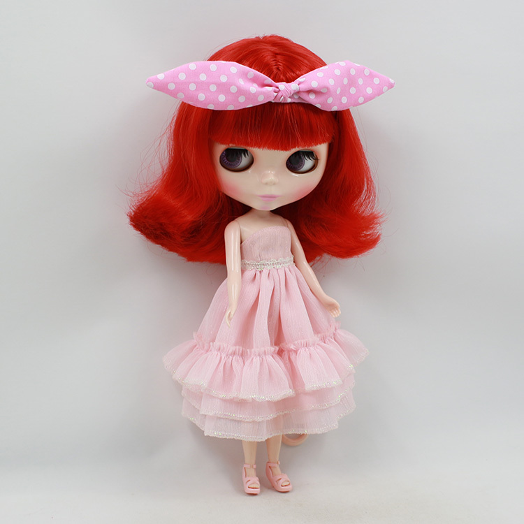 Blyth Nude Doll For Series No.1248 Red Hair Suitable For DIY Change Toy For Girls цены онлайн