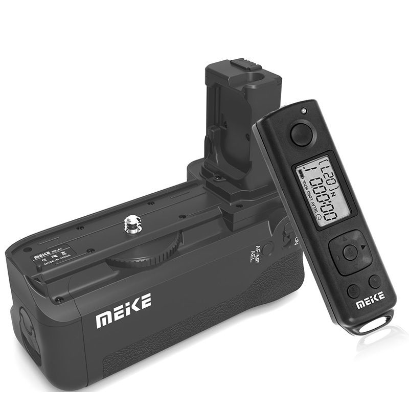 MEIKE MK-AR7 Built-in 2.4g Wireless Control Battery Grip for Sony A7 A7r A7s free shipping neewer meike battery grip for sony a6300 camera built in 2 4ghz remote control work with 1 or 2 np fw50 battery