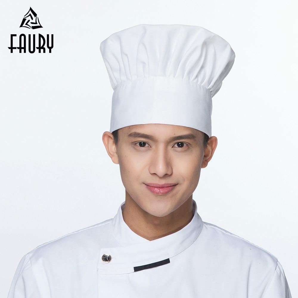 17 Colors Chef Hat Cooking Adjustable Cap Men Kitchen Baker Elastic Hat Catering Food Service Cap Striped Plain Hats Working Cap