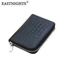 Eastnights Мужские визитницы женские кожаный бумажник держатель кредитной карты Книга ID Card Case TW2709