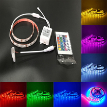 5050 SMD RGB LED Strip Light lamp Waterproof diode ribbon Flexible Controller Big 4PIN DC 12V TV background wall Colorful M4