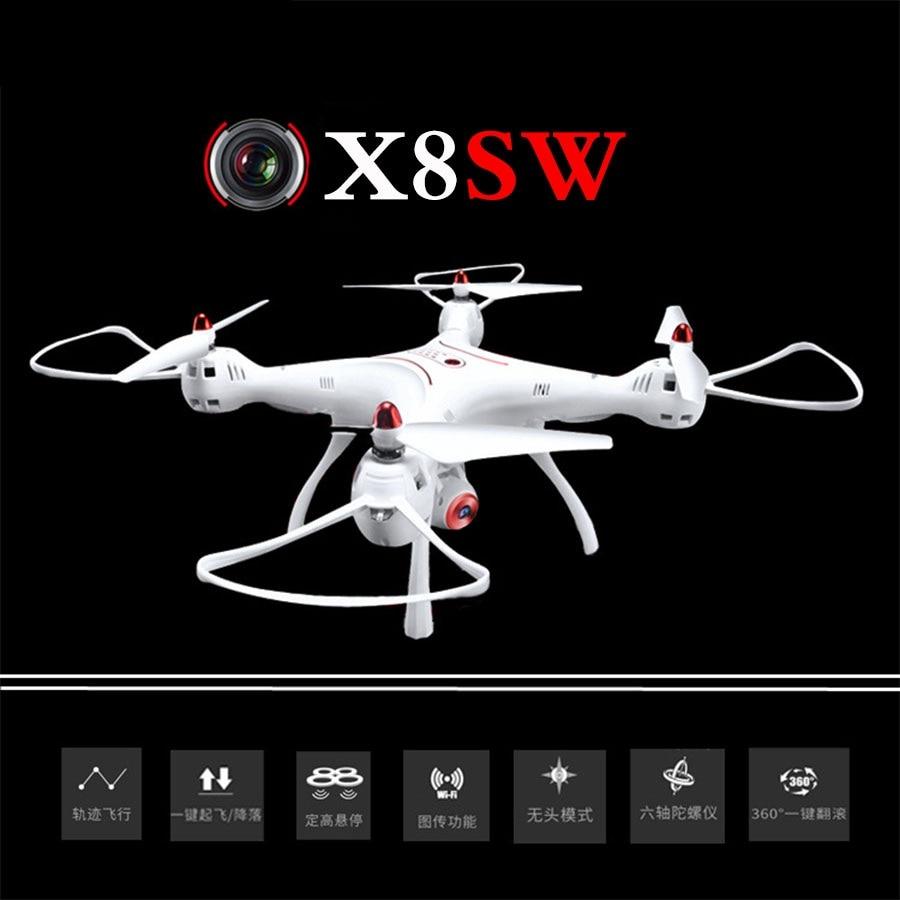 Wi Fi FPV Радиоуправляемый Дрон x8sw с HD Камера 2.4 г 4ch 6 оси высота Удержание headless режим RC Quadcopter в MJX X101 SYMA x8 для лучший подарок