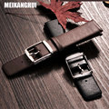 Meikanghui negro correa marrón para tissot dw cuero genuino venda de reloj 18mm 20mm 22mm accesorios reloj de la correa