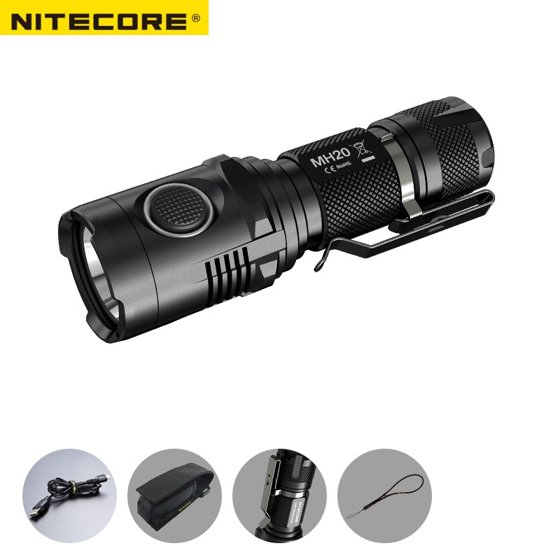 NITECORE MH20 MH20W 1000Lumen CREE XM-L2 U2 LED Rechargeable Flashlight Without Battery Waterproof Led Torch Free Shipping sale nitecore mh20 mh20w 1000lumen cree xm l2 u2 led rechargeable flashlight without battery waterproof led torch free shipping