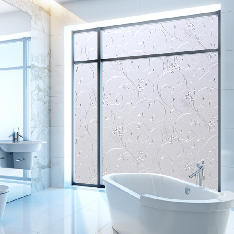 opaque privacy decorative glass window film home decor static self adhesive window sticker solid. Black Bedroom Furniture Sets. Home Design Ideas
