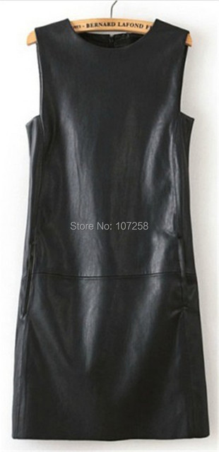 Manu 2015 Summer Style Casual Faux Leather Casual Women Long Tops PU Leather Top 6XL Plus Size Women Black Leather Top Ladies