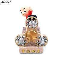 AOSST High Quality 18 Steel Ball Metal Hand Spinner Fidget Spinner Finger Spinner Tri Spinner