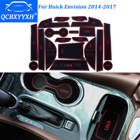 QCBXYYXH 19Pcs/Set Car Styling Slot Pad Interior Door Groove Mat Latex Anti-Slip Cushion For Buick Envision 2014-2017 Dedicated