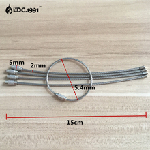 10pcs/lot Outdoor Camping Edc gear Multifunctional Wire Rope Key Ring & Stainless Steel Chain Tool DS-2013