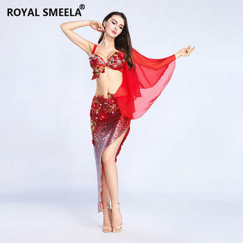 New Belly Dance Suit Set 2Pcs (bra& long skirt) Oriental skirt Set for Dancing performance stage outfit  8804
