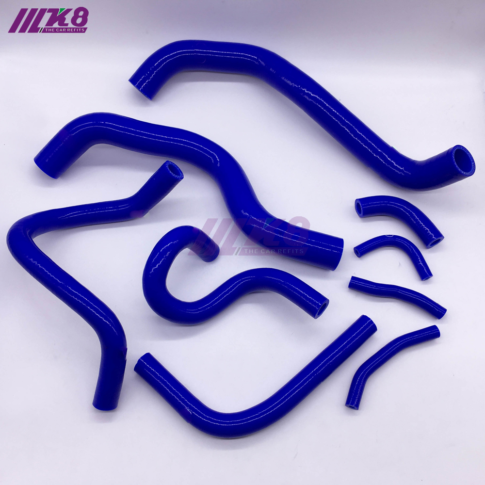 Silicone Coolant Radiator Hose Kit For Honda CRV MK3 2.4 06~11 (9PCS) red/blue/black|Hoses & Clamps| |  - title=