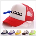 Free DLY LOGO Aduit Trucker Caps Patchwork Candy Color Summer Sun Hats Baseball hat 50% Discount Free Logo Printing Mesh Cap