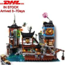 3979 шт. Модель Строительство наборы Совместимость с Lego Ninjagoes серии 70657 город доки Набор 3D Кирпич рисунок игрушечные лошадки