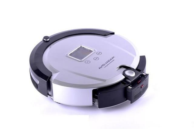 (Free to Singapore)  4 In 1 Multifunctional Robot Vacuum Cleaner, LCD Screen,Touch Button,Schedule Work,Virtual Wall,Auto Charge