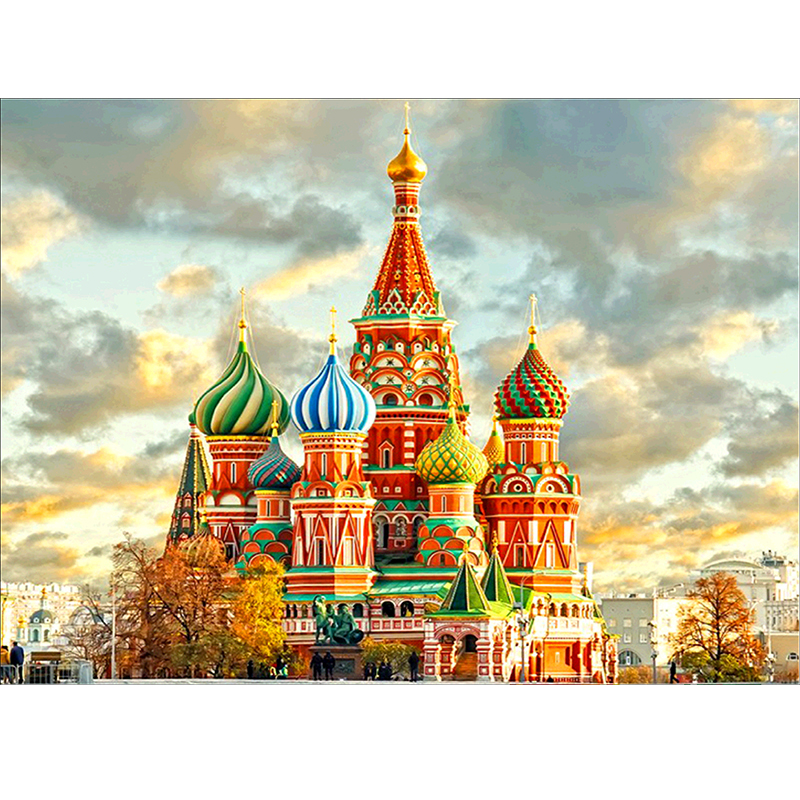 Religion 5D diy Diamond Embroidery 3D diamond Painting cross stitch kits Russian Church picture mosaic pattern new year gift