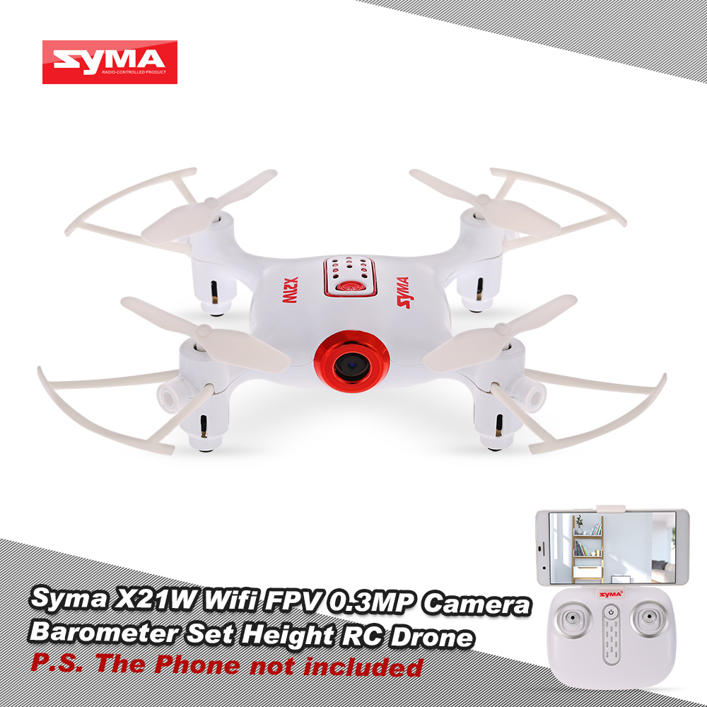 Syma X21W Wifi FPV 720P Camera Drone Barometer Set Height RC Drone Quadcopter Toys APP Phone Control With Battery Controller (7)
