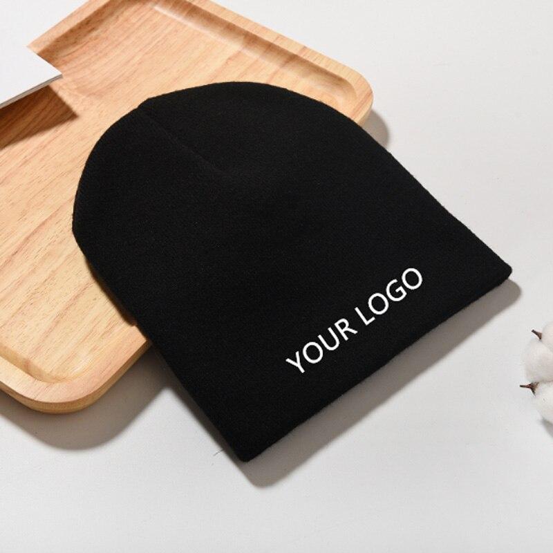 Chapéu de inverno do logotipo do custome do oem 2020 feito malha toque com seu gorro do logotipo da cópia do bordado