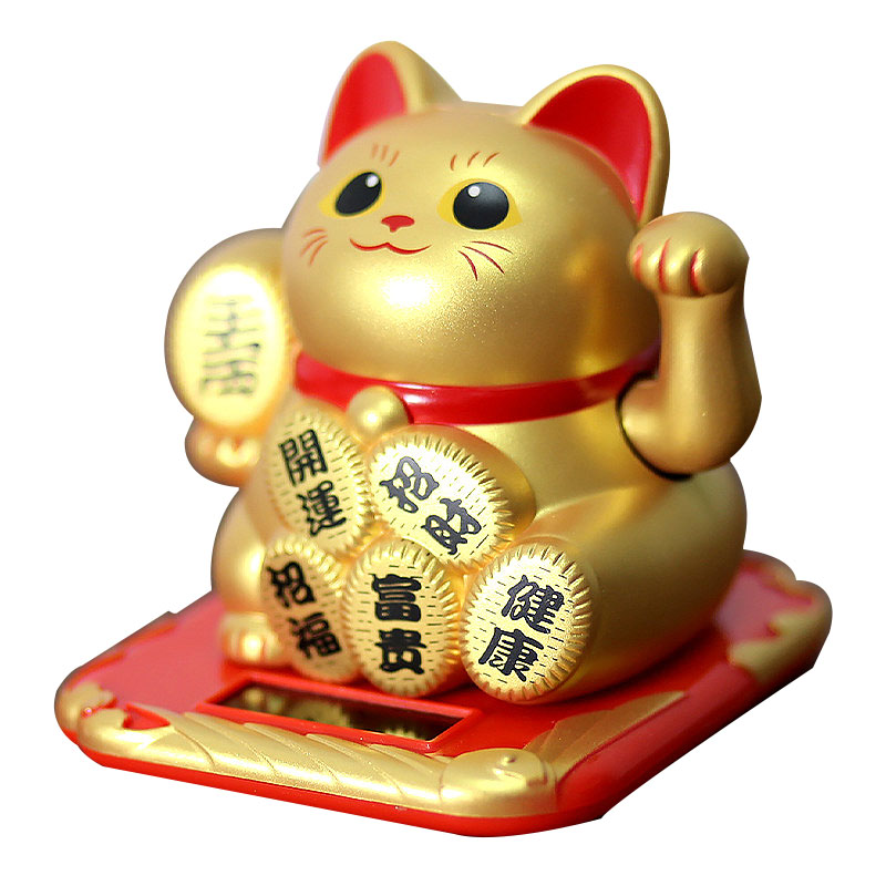 Home Office Shop Decor Wealth Fortune Crafts Shaking Hands Lucky Cat Checkout Counter Decoration Waving Cat Decor Ornament Craft