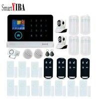 SmartYIBA RFID GSM WIFI GPRS Hırsız Alarm Kitleri + 2 adet Güvenlik Kamera Ev Alarm Sistemi Ev Ofis Güvenlik için hırsız alarmı|Alarm Sistemi Kitleri|Güvenlik ve Koruma -