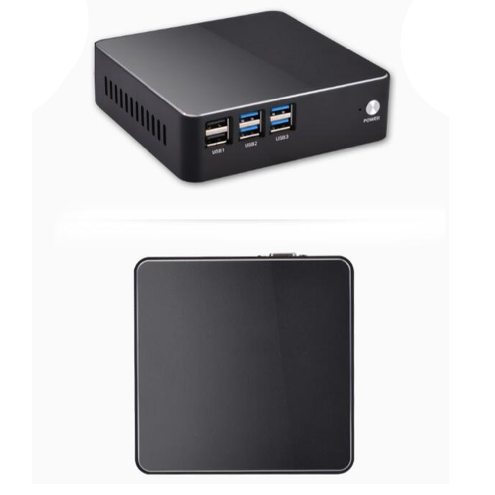 metal case NUC Intel Core i5 6200U Mini PC Windows10 Computer DDR4 SSD support 2 5 HDD HDMI VGA dual display 4K windows10 tv box in Set top Boxes from Consumer Electronics