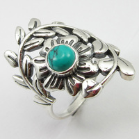 Silver Turquoises December Birthstone Ring Size 8.75 Women's Jewelry Unique Designed