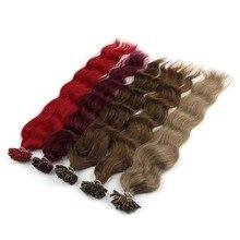 Machine Made Remy Human Fusion Hair U Nail Tip Natural Wave Pred Bond Keratin Human Hair Extension 20″ 1g/s 18 Colors