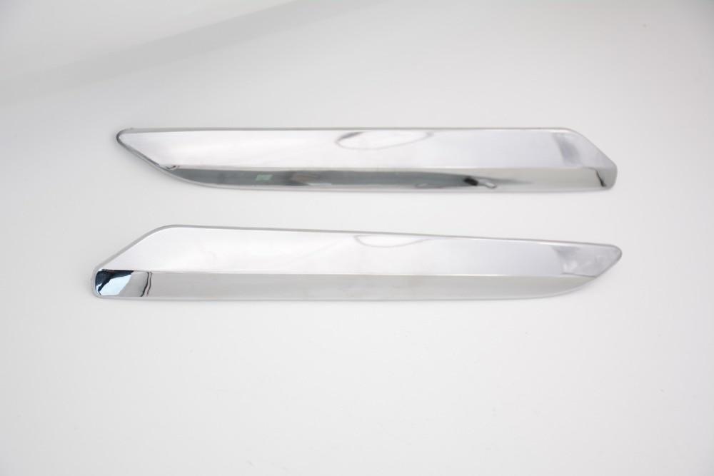 2 Pcs/paire pare-choc avant chrome cover version décoration argent bande RH et LH Pour Citroen C5 2008-2015