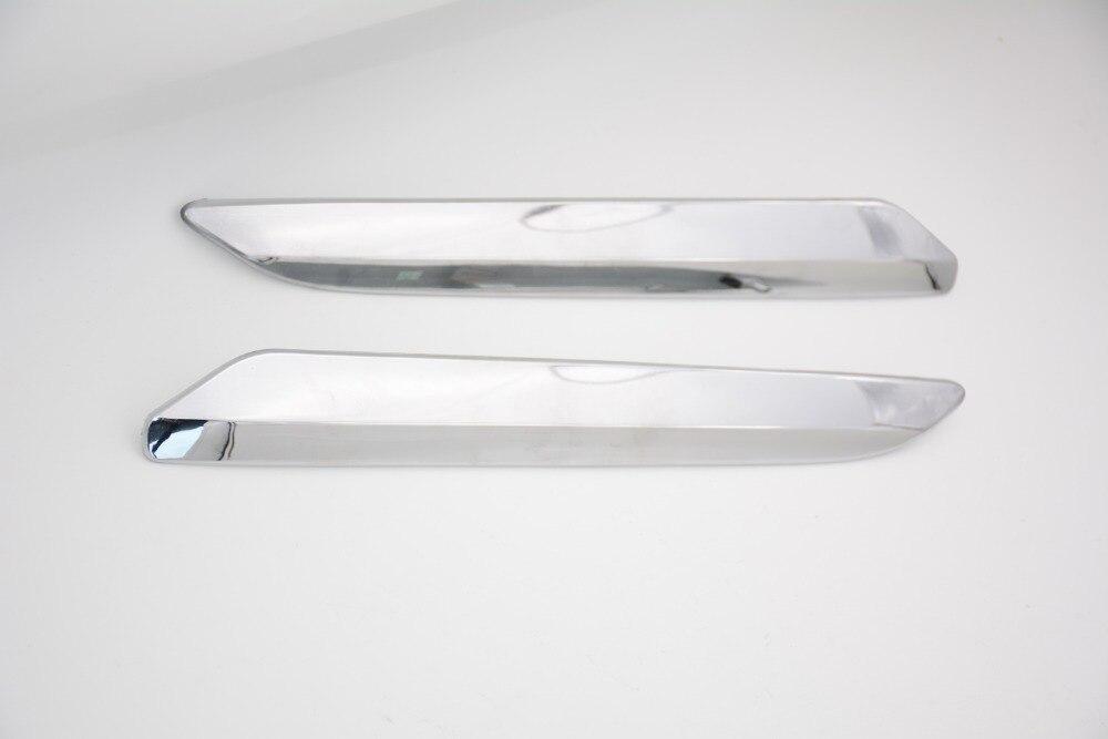 2 pièces/paire pare-chocs avant chrome couvercle garniture décoration bande d'argent RH et LH pour citroën C5 2008-2015