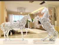 new style silver horse artcraft resin horse ornaments,furnishings office desk decoration gift a2390