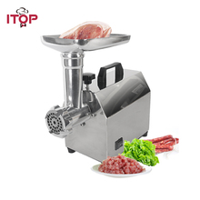 ITOP CE Household Meat Grinder Sausage Filler Mincer Fish Meat Fruit Ginger Pepper Vegetable Blender Mincing Machine