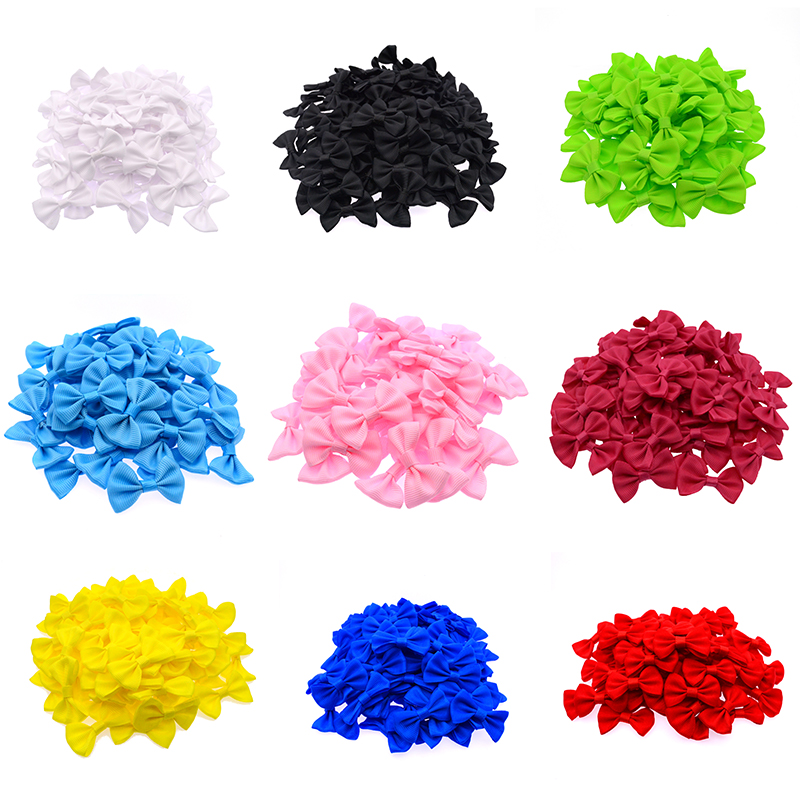100 Pcs/lot Ribbon CLIPS Bow Tie Wedding Hair Accessories