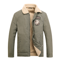 Bomber Jacket Men Air Force Pilot Warm Male Fur Collar Army Jacket Tactical Mens Coats Brand