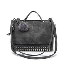 CHISPAULO Vintage Nubukleder Top-griff Taschen Niet Größere Frauen Taschen Allgleiches Haar Ball Umhängetasche Umhängetasche neue C176