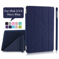 Redlai Fashion PU Leather Cover For Apple IPad 2 3 4 Case Magnetic Wake Sleep Muti