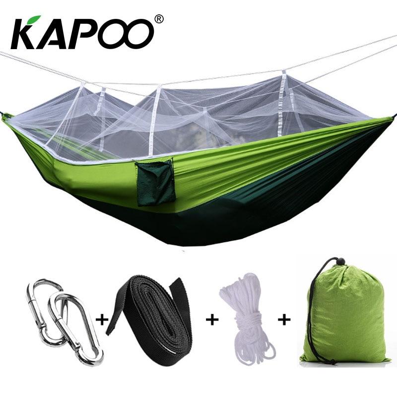 Mosquito net hammock high quality hammock outdoor hammock indoor hammock multiple colors can choose outdoor Essential